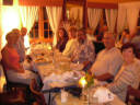A merry band enjoyed dinner despite earlier small craft advisories.