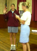 Cdr. Kim inducts Becky into NHPS.