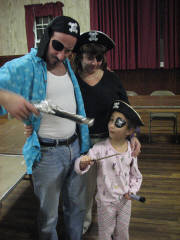 Richard, Michelle and Alyssa embody heary pirates