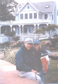 Jerry L. Mashaw and Anne U. MacClintock in front of their home.